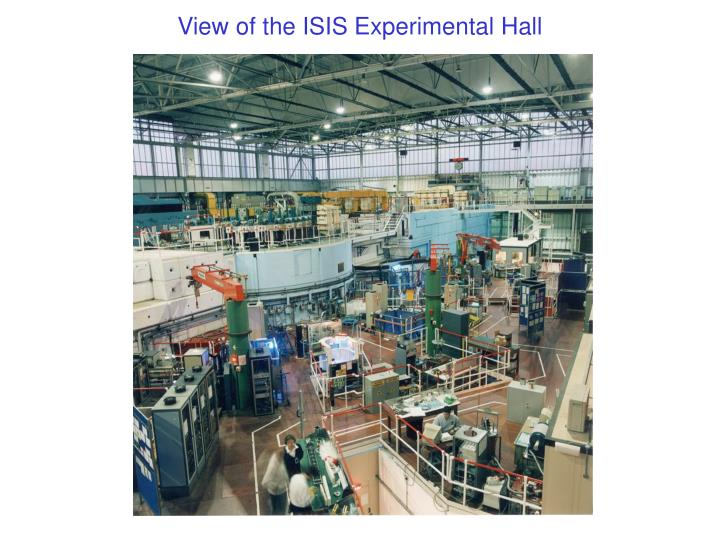 View of the ISIS Experimental Hall