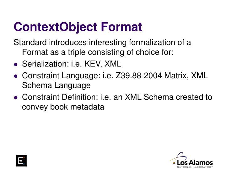 ContextObject Format