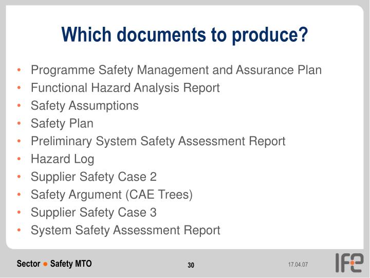 Which documents to produce?