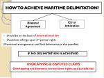 how to achieve maritime delimitation