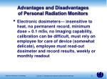 advantages and disadvantages of personal radiation monitors1
