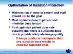 optimization of radiation protection