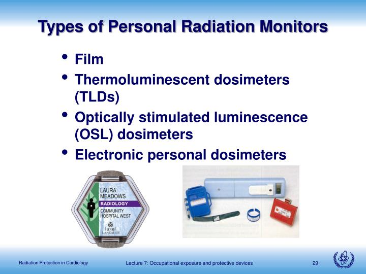 Types of Personal Radiation Monitors