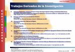 trabajos derivados de la investigaci n1