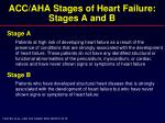 acc aha stages of heart failure stages a and b