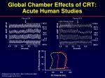 global chamber effects of crt acute human studies