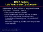 heart failure left ventricular dysfunction