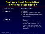 new york heart association functional classification1