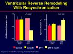 ventricular reverse remodeling with resynchronization