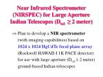 near infrared spectrometer nirspec for large aperture indian telescopes d tel 2 meter