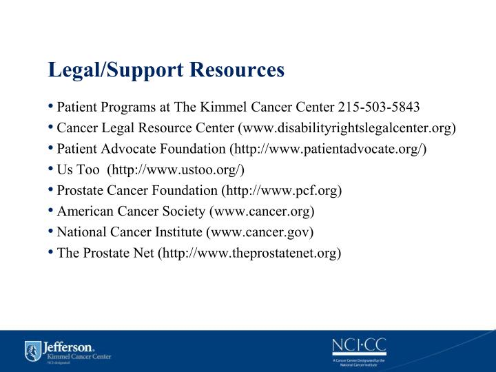 Legal/Support Resources