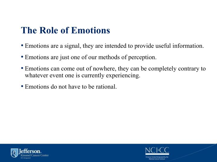 The Role of Emotions
