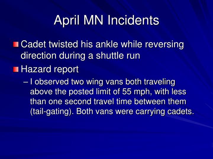 April MN Incidents