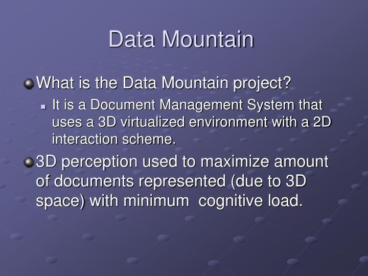 Data Mountain