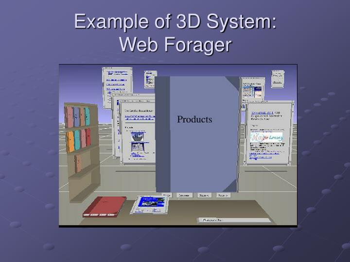 Example of 3D System: