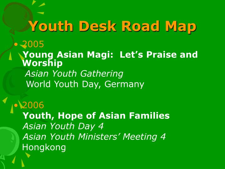Youth Desk Road Map