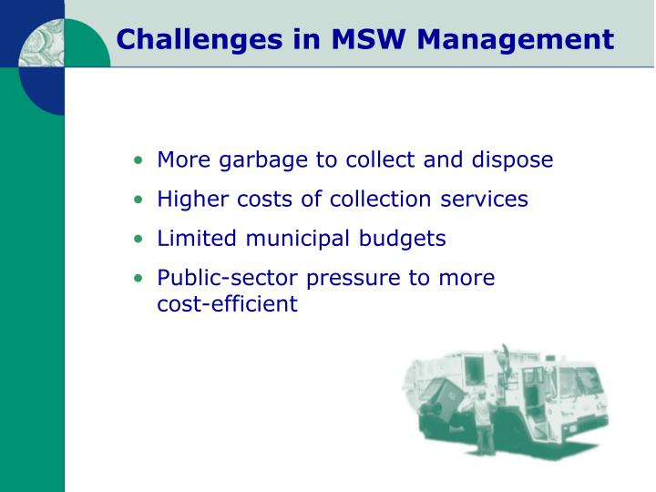 Challenges in msw management