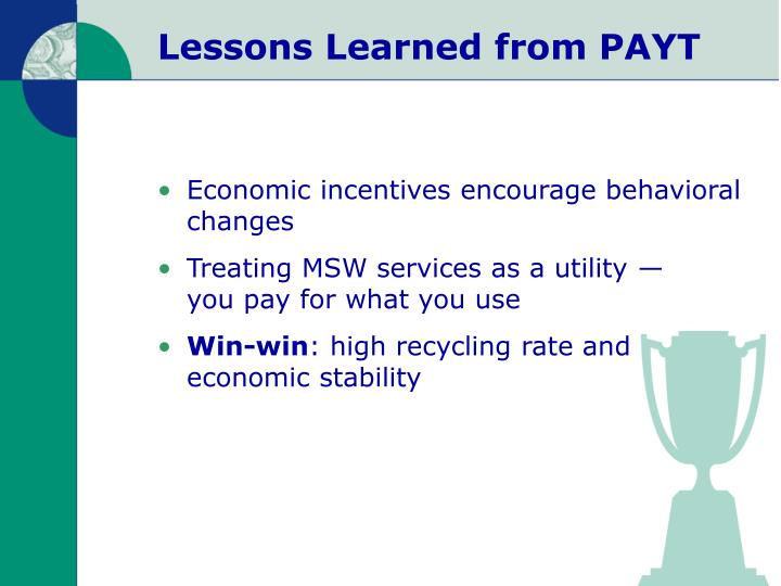 Lessons Learned from PAYT