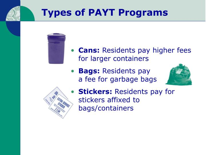 Types of PAYT Programs