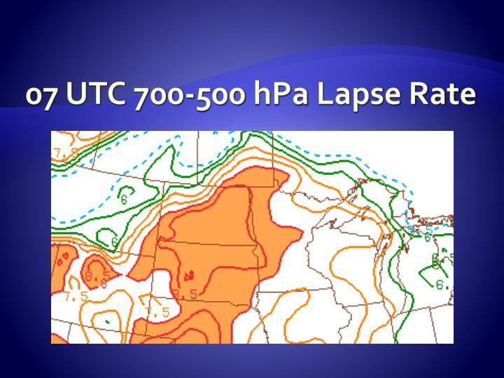 07 UTC 700-500