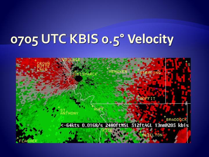 0705 UTC KBIS 0.5