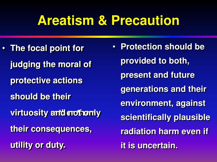 The focal point for judging the moral of protective actions should be their virtuosity rather than their consequences, utility or duty.