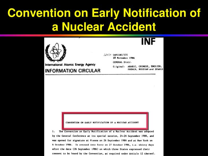 Convention on Early Notification of a Nuclear Accident