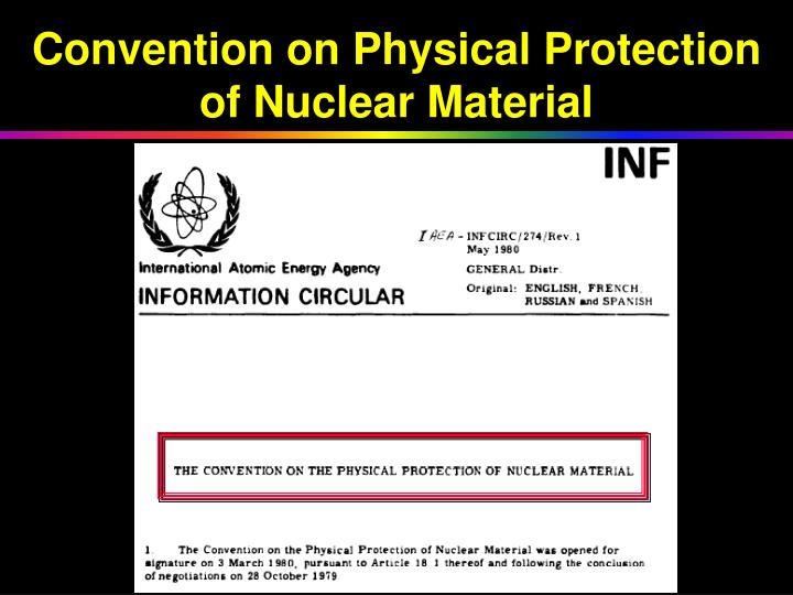 Convention on Physical Protection of Nuclear Material