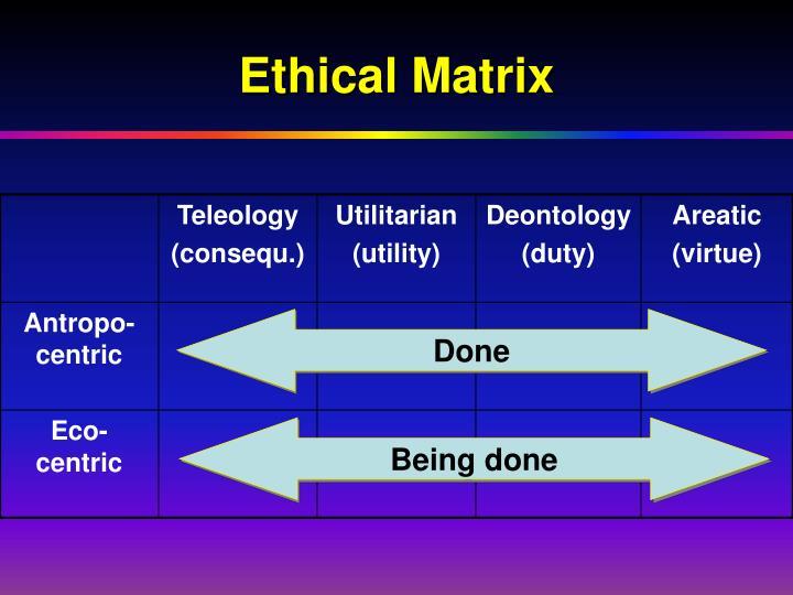 Ethical Matrix