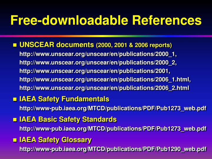 Free-downloadable References