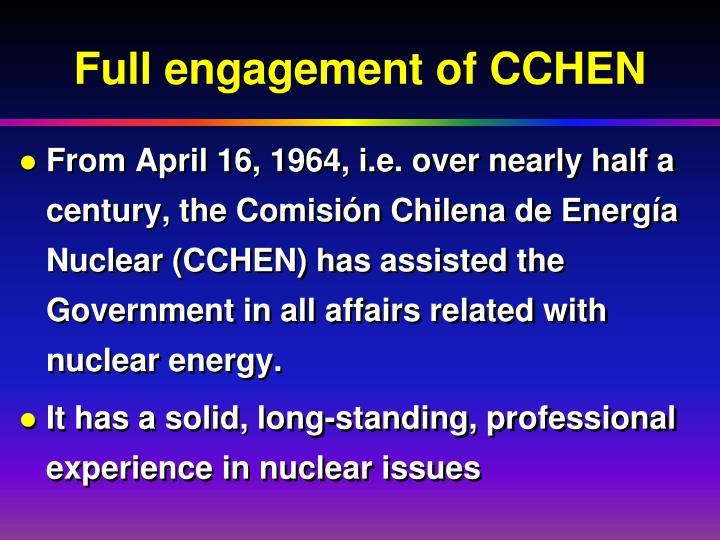 Full engagement of CCHEN