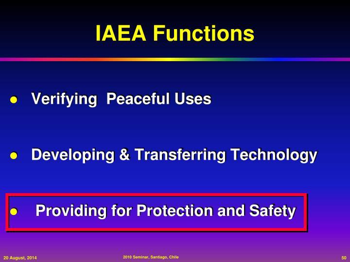 IAEA Functions