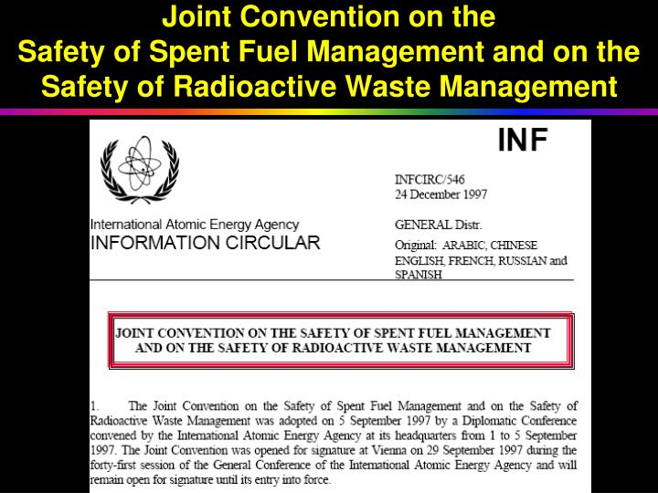 Joint Convention on the
