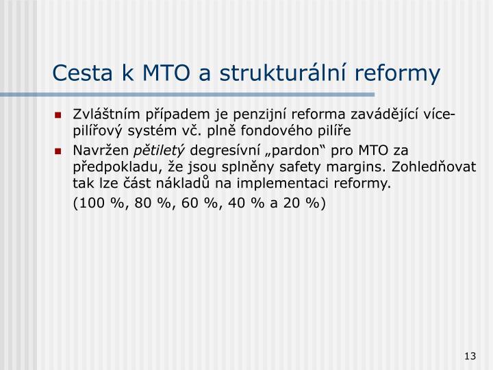 Cesta k MTO a strukturální reformy