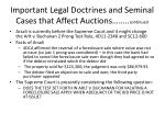 important legal doctrines and seminal cases that affect auctions continued1