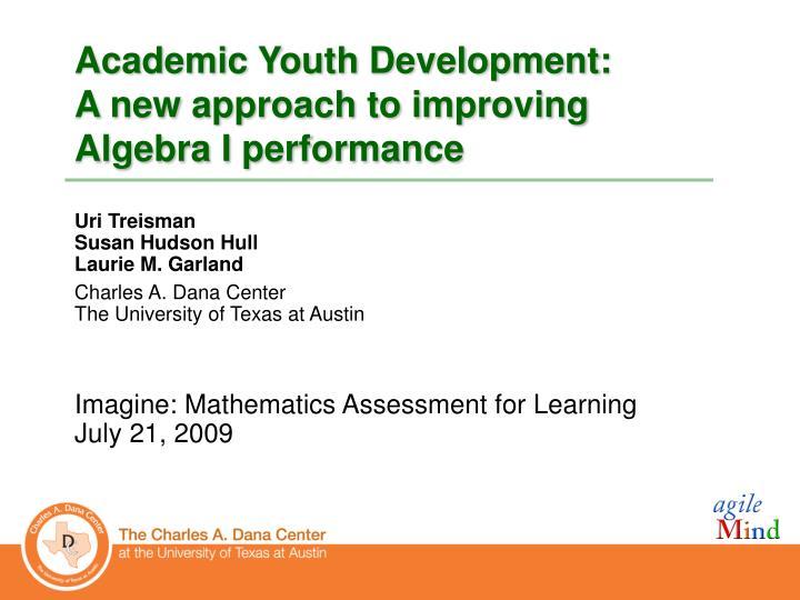 Academic Youth Development:
