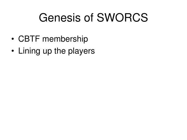 Genesis of SWORCS