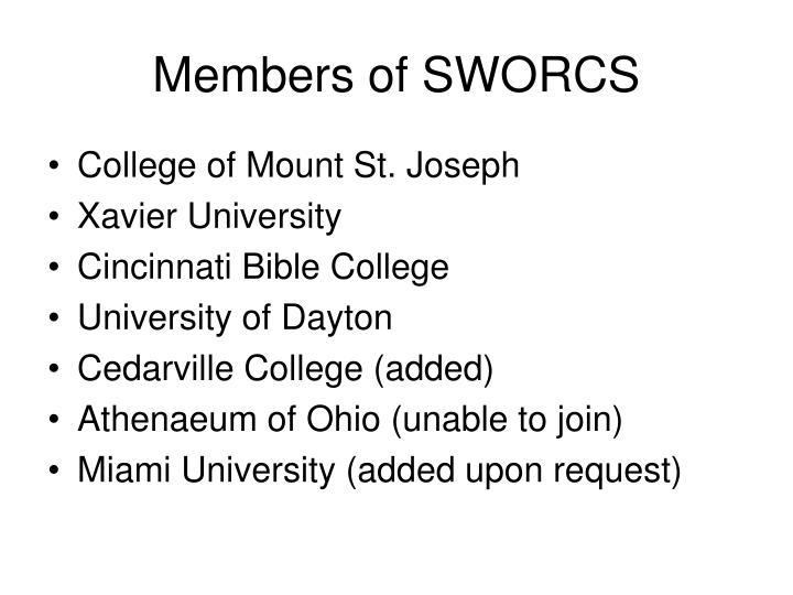 Members of SWORCS