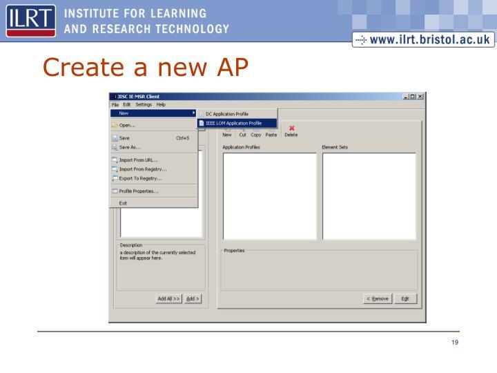 Create a new AP
