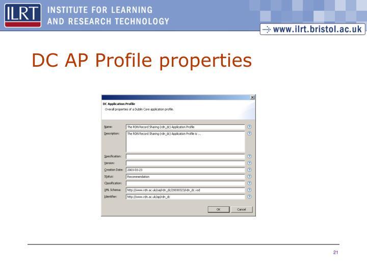 DC AP Profile properties
