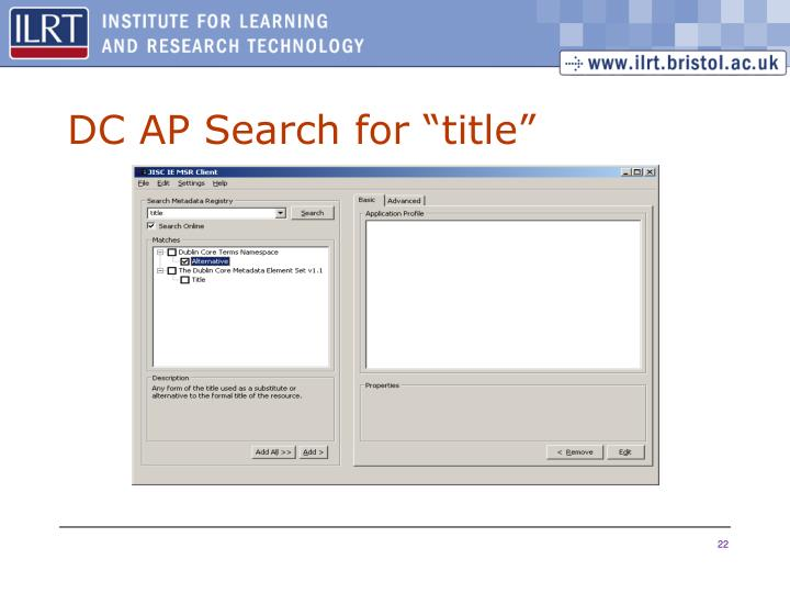"""DC AP Search for """"title"""""""
