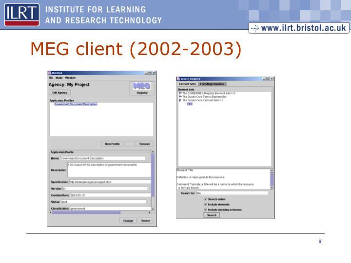 MEG client (2002-2003)