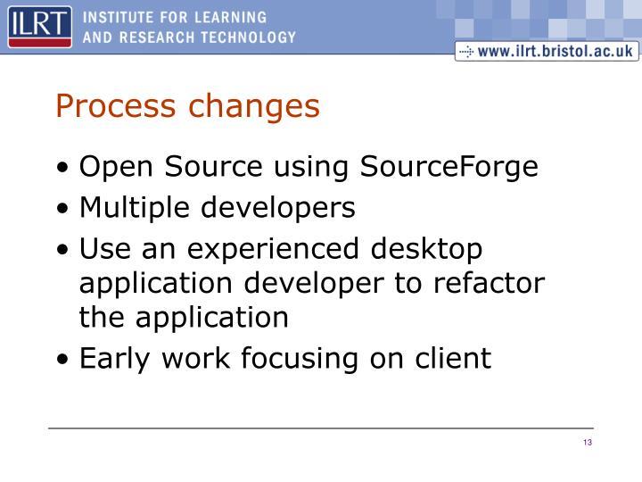 Process changes