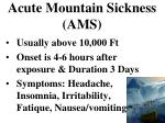 acute mountain sickness ams