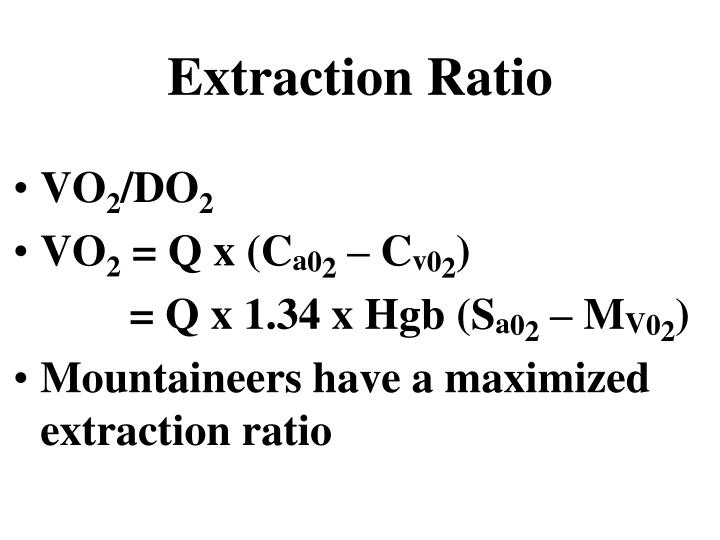 Extraction Ratio