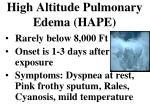 high altitude pulmonary edema hape