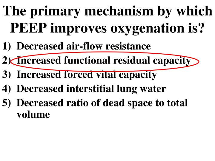 The primary mechanism by which PEEP improves oxygenation is?