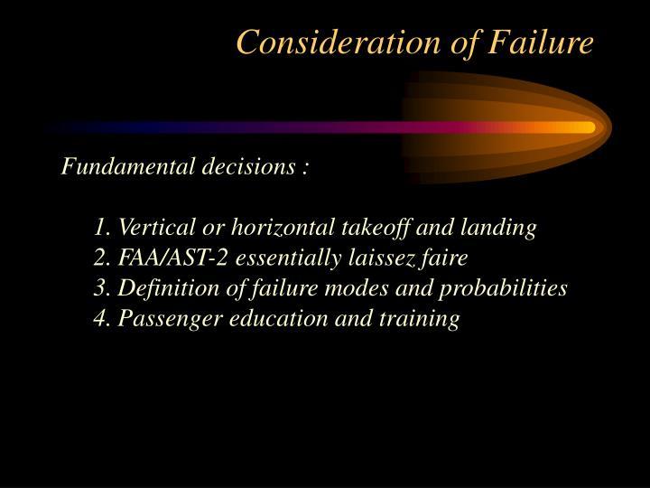 Consideration of Failure