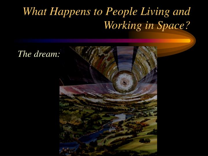 What Happens to People Living and Working in Space?