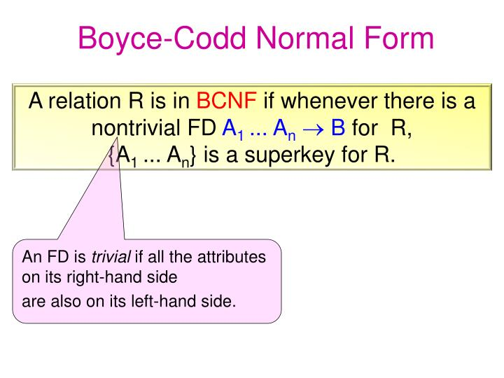 Boyce-Codd Normal Form